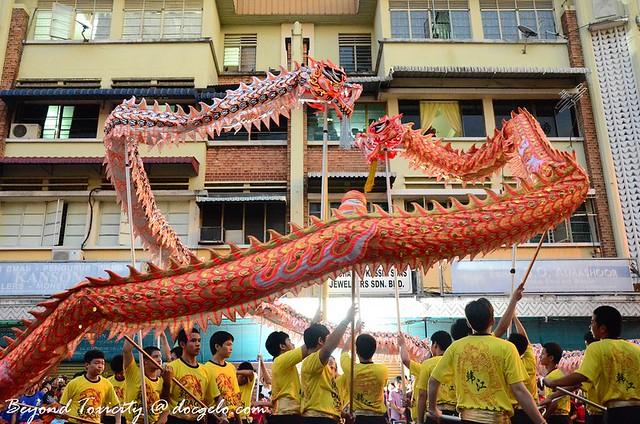 dragon dance, george town, penang, malaysia