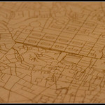 Plywood map of Edinburgh