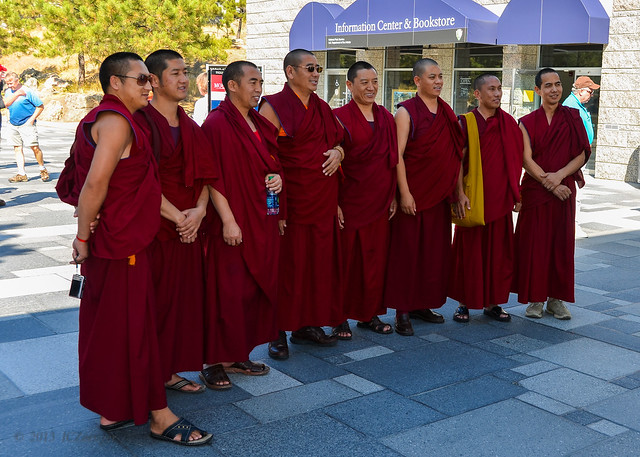 Mount Rushmore monks