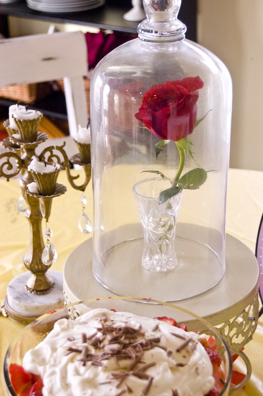 Beauty and the beast centerpiece wednesday style sisters