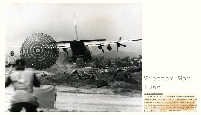 1966 USAF C-130 Uses LAPES to Deliver Supplies at An Khe - Press Photo