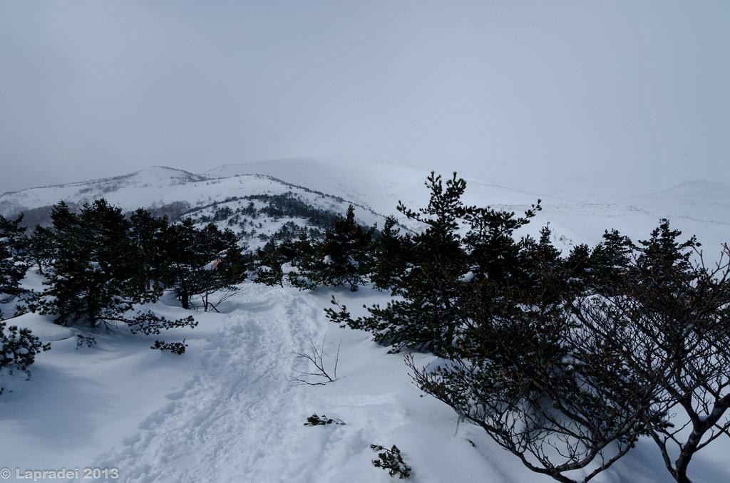 20130210 安達太良山登山道