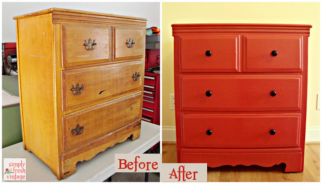 Vintage Dresser Before/After