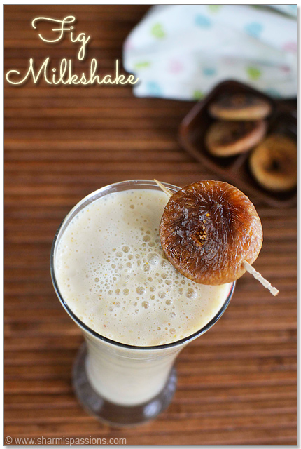 Fig Milkshake Recipe