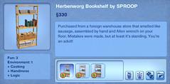 Herbenworg Bookshelf by SPROOP