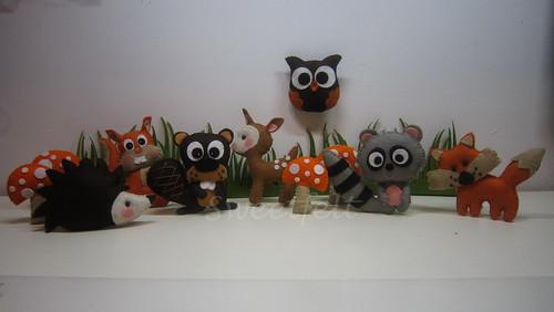 ♥♥♥ Animais da floresta... by sweetfelt \ ideias em feltro