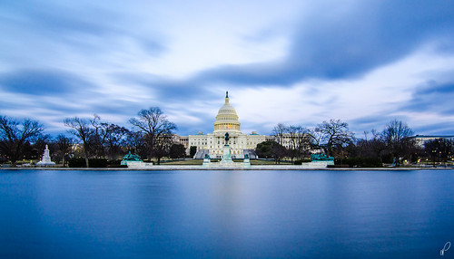 longexposure blue sunset reflection building pool architecture america dc washington nikon district hill columbia tokina capitol congress hour dome daytime f28 nd400 emptyquarter 1116 gorillapod na3eem d7000