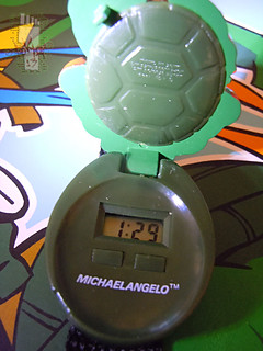 "HOPE INDUSTRIES ""TEENAGE MUTANT NINJA TURTLES"" :: MICHAELANGELO Digital Watch iii  (( 1988 ))"