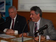 Esquerra a dreta: Carlos Rico, president d'ADIN, i Jordi Ciuraneta, director general de Pesca i Afers Marítims.