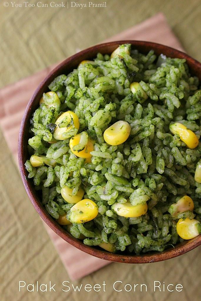palak rice 1