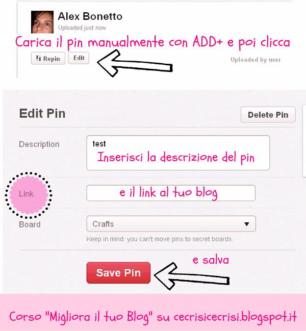 guida di pinterest, come usare pinterest, come aggiungere un link al pin