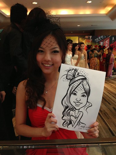 caricature live sketching for Recruit Express Dinner & Dance 2013 - 5