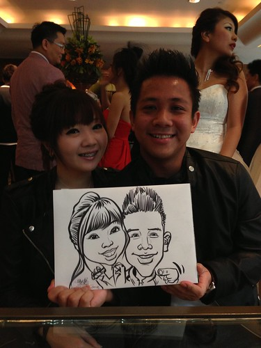 caricature live sketching for Recruit Express Dinner & Dance 2013 - 6