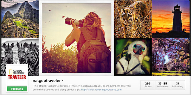 National Geographic Traveler Instagram