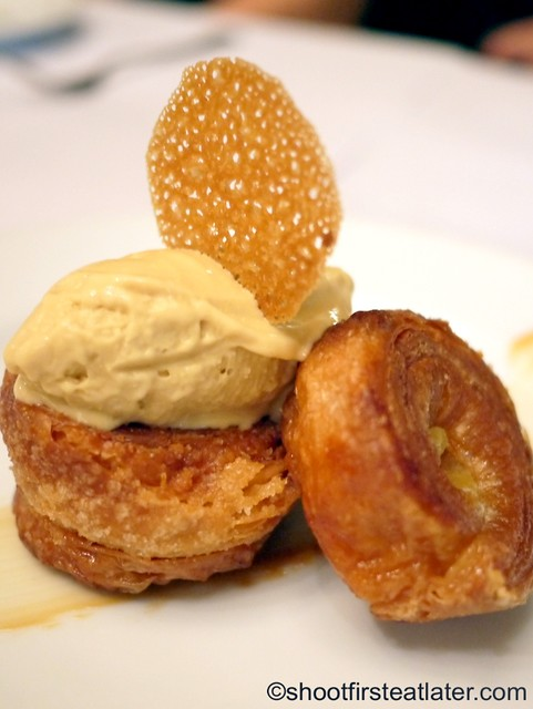 kouign amann with salted caramel ice cream P310