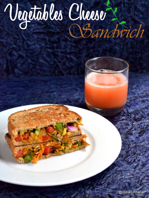 Vegetables Cheese Sandwich