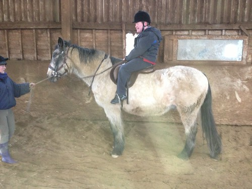 Alec riding at Newton Hall