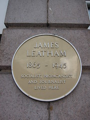 Photo of James Leatham yellow plaque