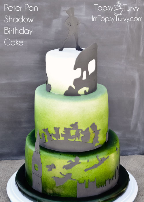 peter-pan-silhouette-shadow-ombre-fondant-birthday-cake