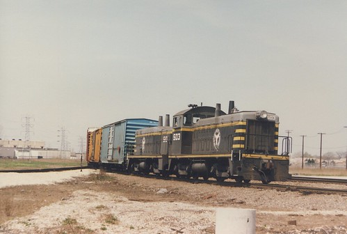 Eastbound Belt Railway of Chicago transfer train approaching Hayford Junction.  Chicago Illinois.  April 1987. by Eddie from Chicago
