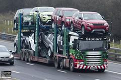 Scania P420 6x2 Car Transporter - AY12 AON - Lexie Isabelle - Eddie Stobart - M1 J10 Luton - Steven Gray - IMG_2755