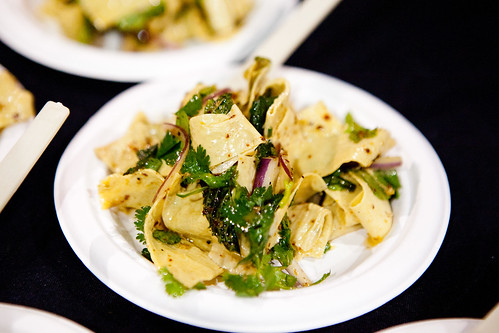 Tofu ribbons with cilantro, mint, chili oil by Yunnan Kitchen