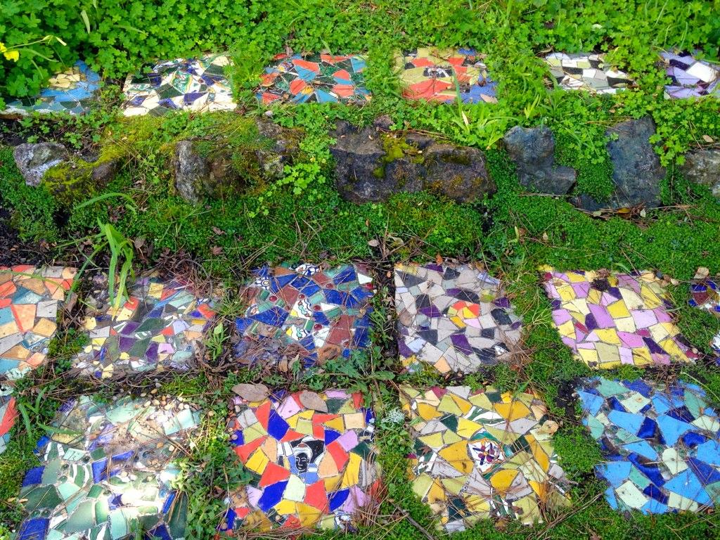 Mosaic garden tiles a photo on flickriver