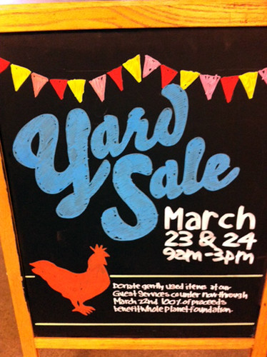 Whole Foods Yard Sale sign