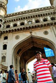 Subhasip at Charminar