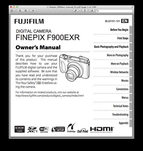 Fujifilm F900EXR Manual