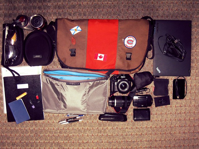 What's in my bag on the road
