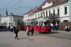 Miskolc red tram