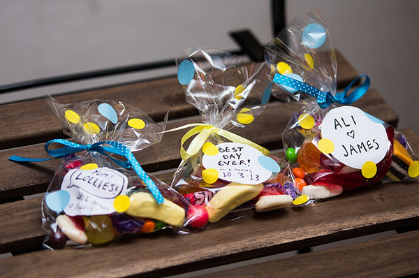 wedding favour lolly bags