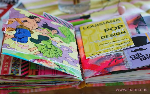 Art journaling: Pop Art