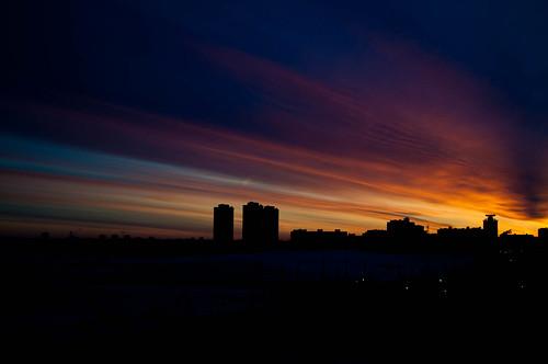 sunrise landscape belarus minsk город пейзаж зима восход minskprovince