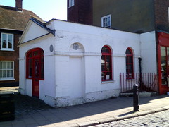 Photo of Faversham Fire Station white plaque