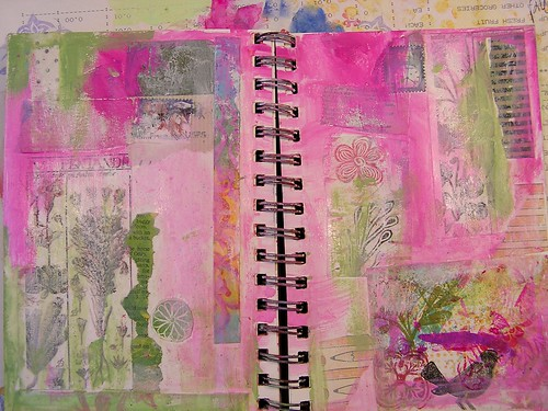 Collage Art Journal Page, Part 3
