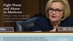 Claire Seeks Stories on Medical Equipment Sales Tactics by Senator McCaskill