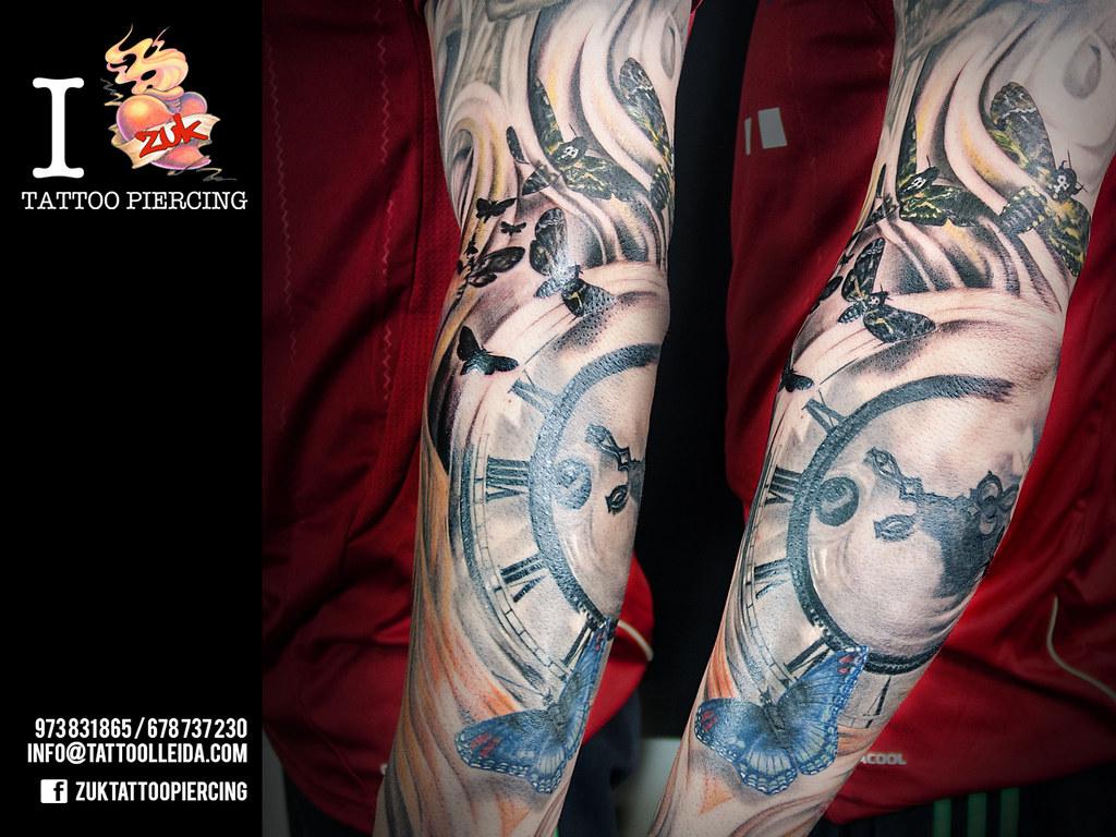 Tatuaje Mariposas Reloj Brazo Zuk A Photo On Flickriver