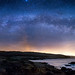 Panorama - Milky Way Rising over Gerstle Cove, Salt Point State Park, CA by Bill Shupp