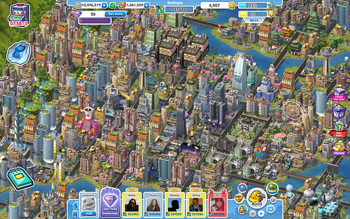 SimCity Social - my city