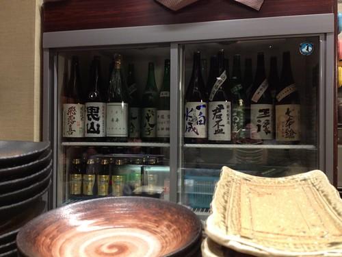 カウンター越しに見える日本酒飲み放題!@居酒屋純ちゃん