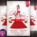 Red Party Flyer Template by grandelelo