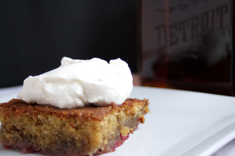 Cherry & Whiskey Upside Down Cake