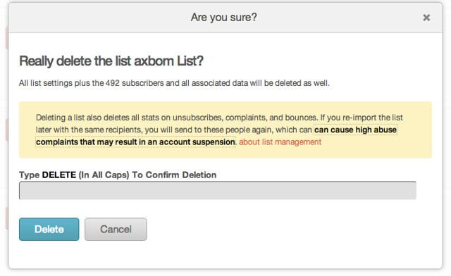 how to delete mailchimp account