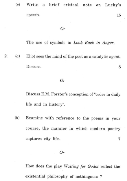 ba english hons guess paper Magadh university - previous year question paper of english hons part 3.