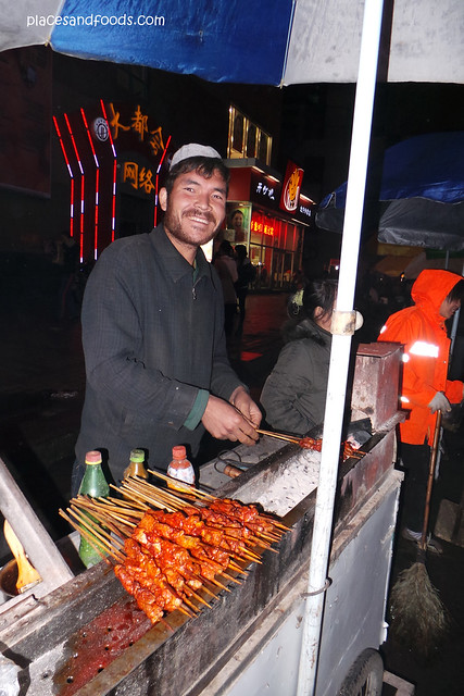 nanning street food xinjiang skewers