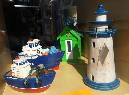 Money boxes in FMA shop in Eyemouth in the Scottish Borders