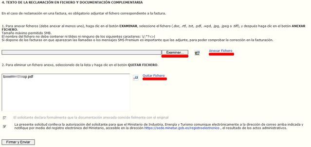 TEXTO DE LA RECLAMACIÓN EN FICHERO Y DOCUMENTACIÓN COMPLEMENTARIA