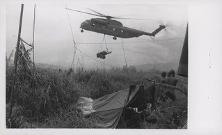 CH-53 Sea Stallion Helicopter Delivers Water, 1 September 1968